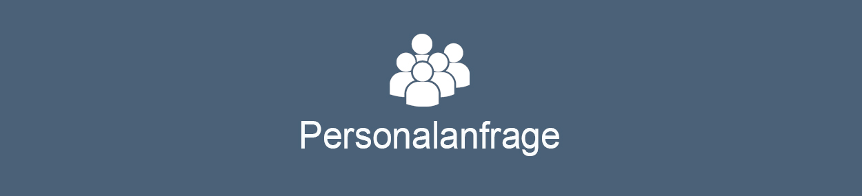 Personalanfrage